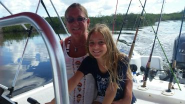Kylee at the helm