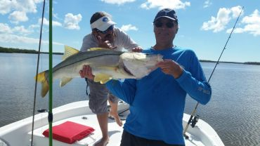Steve with his 36 inch Snook